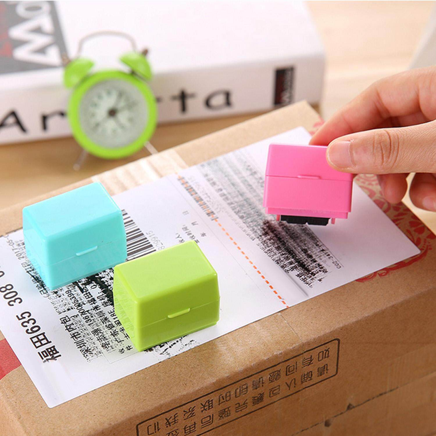 Hình ảnh 3pcs Roller Self Inking Stock Stamp Seal Theft Protection Code Guard ID Confidentiality Confidential Stamp Seal Random Color - intl