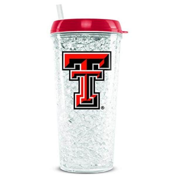 Tumblers Duck House NCAA Texas Tech Red Raiders 16oz Crystal Freezer Tumbler with Lid and Straw - intl
