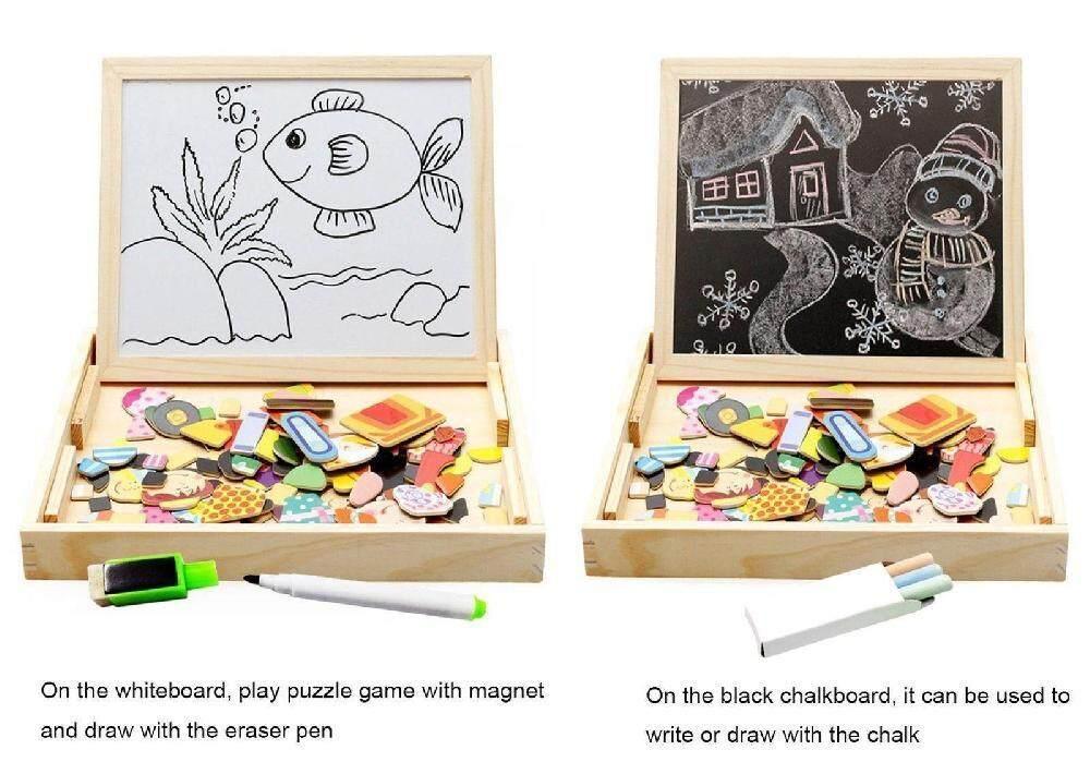 Rp 214.155. Doxiy Kayu Jigsaw Magnet Mainan Puzzle Balita Game Edukasi ...