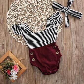 Harga preferensial Bayi Baru Lahir Pakaian Bayi Baju Main Anak Perempuan  Jumpsuit Bodysuit 2 Pcs Pakaian d475863b60
