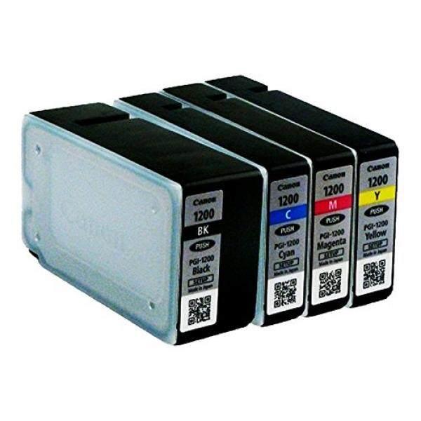 Canon CANON MAXIFY PGI-1200 Katrid Tinta Asli Paket Lengkap Multi Pack (Hitam, Cyan, Magenta, Kuning) CANON MAXIFY MB2020 MB2030 MB2320 MB2050 MB2350 MB2120 MB2720-Intl