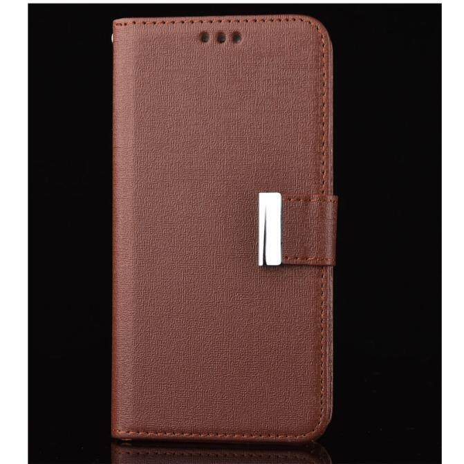 Malloryshop Leather Cover Case Flip Wallet Cover For Samsung Galaxy S7 Edge BK - intl