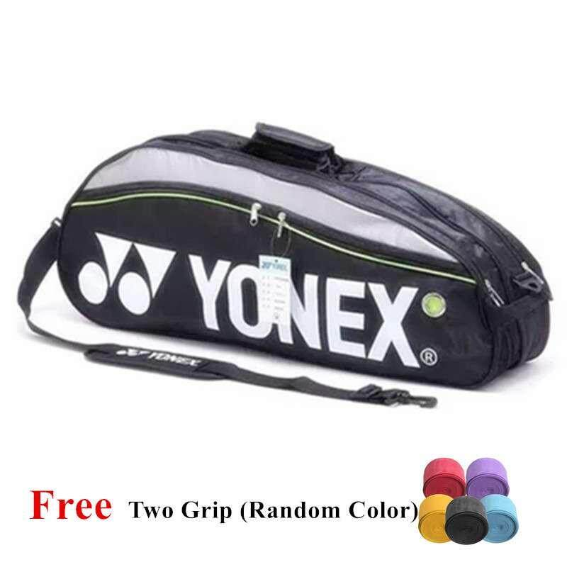 Yonex 9332 Badminton Bag Double Zips Bag with Shoes Compartment + 2 Main Packets 2 Main