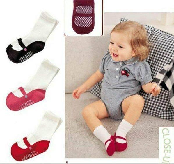 Shan 3 คู่หญิง Slip - Resistant การ์ตูนรองเท้าบัลเล่ต์สำหรับ 0-12 เดือน By Shanshan.