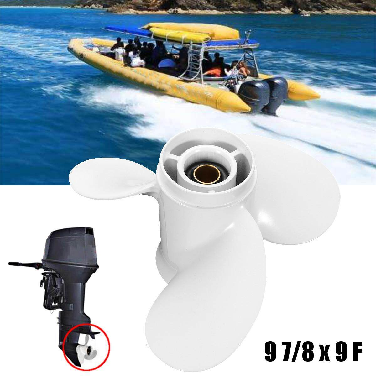 Propeller 3 Blade Aluminium Prop Outboards 10 Tooth Splines By Teamwin.