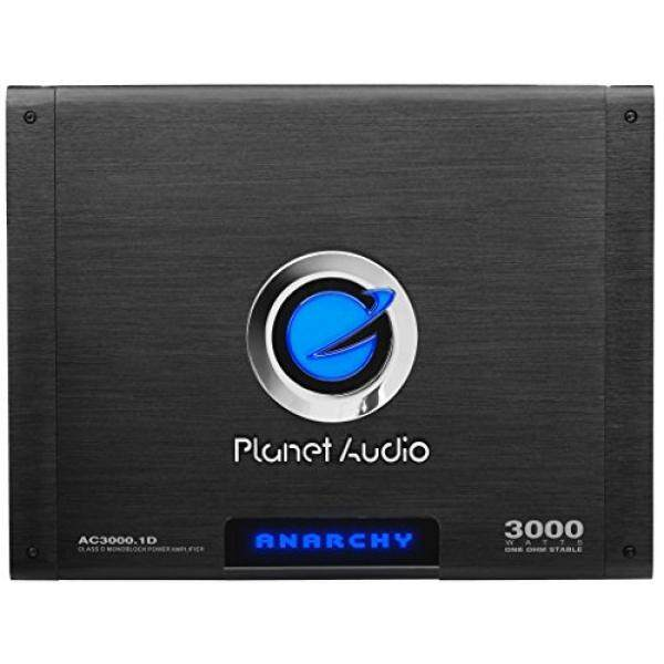 Planet Audio AC3000.1D Anarchy 3000 Watt, 1 Ohm Stable Class D Monoblock Car Amplifier with Remote Subwoofer Control / From USA