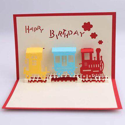 3D Birthday Cake Card  4