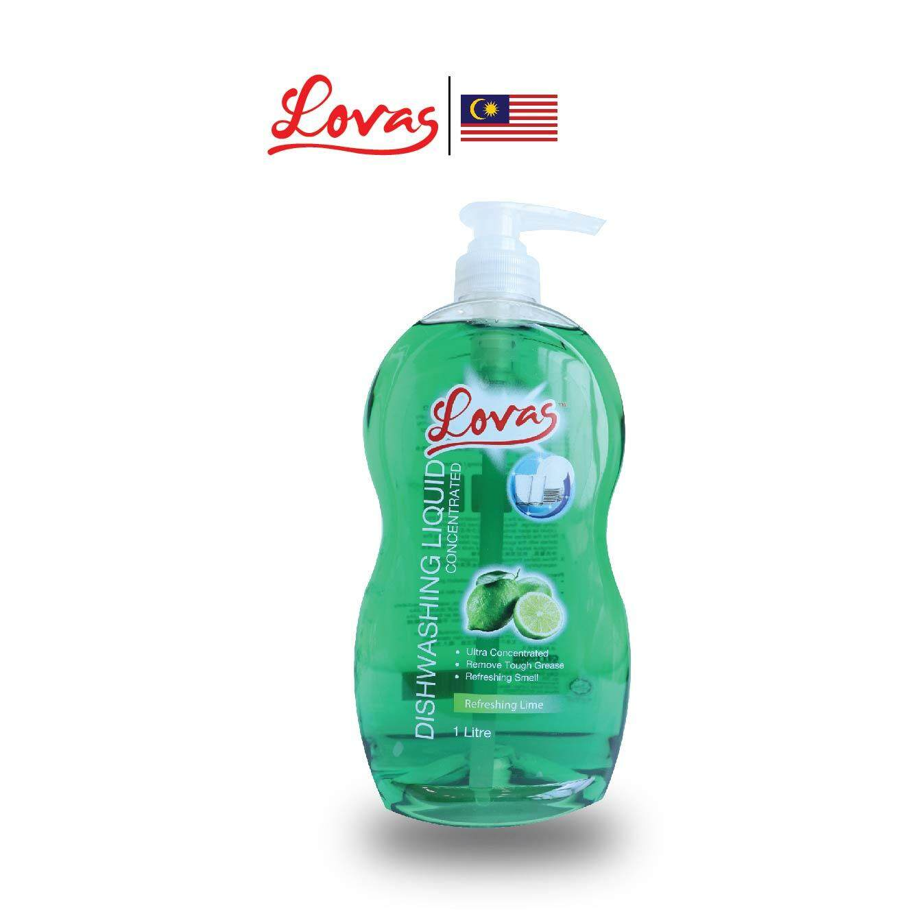 LOVAS Dishwashing Liquid Concentrated - 1L [Lime] Oil & Grease Remover