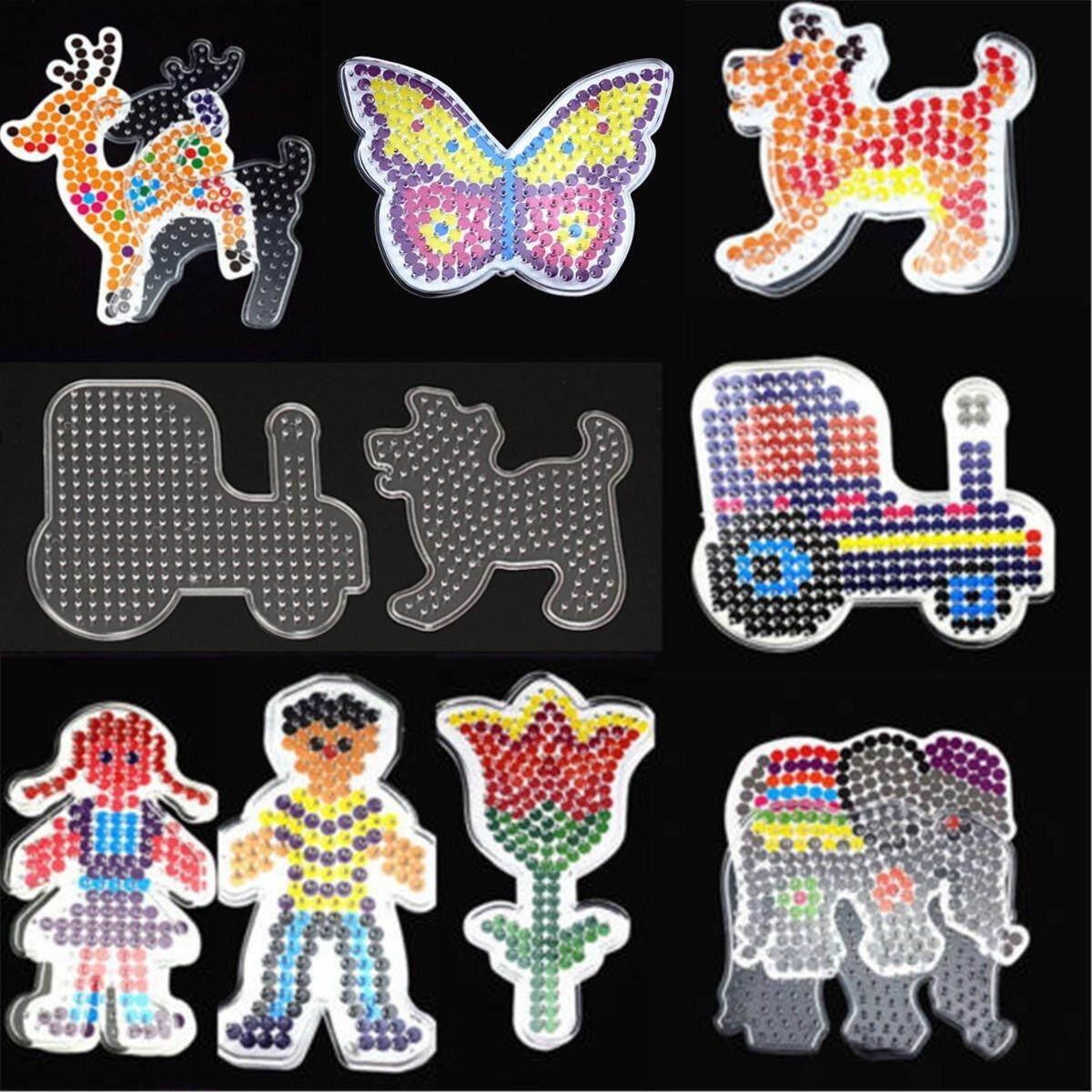 Hình ảnh 9PCS Set Clear Perler Hama Beads Peg Board Pegboard Template Funny DIY Toy Craft - intl