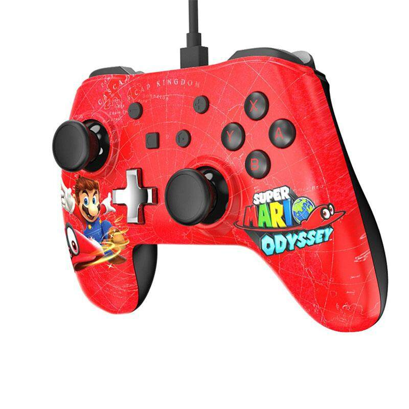 Redcolourful 1 Pc/2 Pcs Wired Controller for Nintend Switch Pro Gamepad Joypad Remote Console