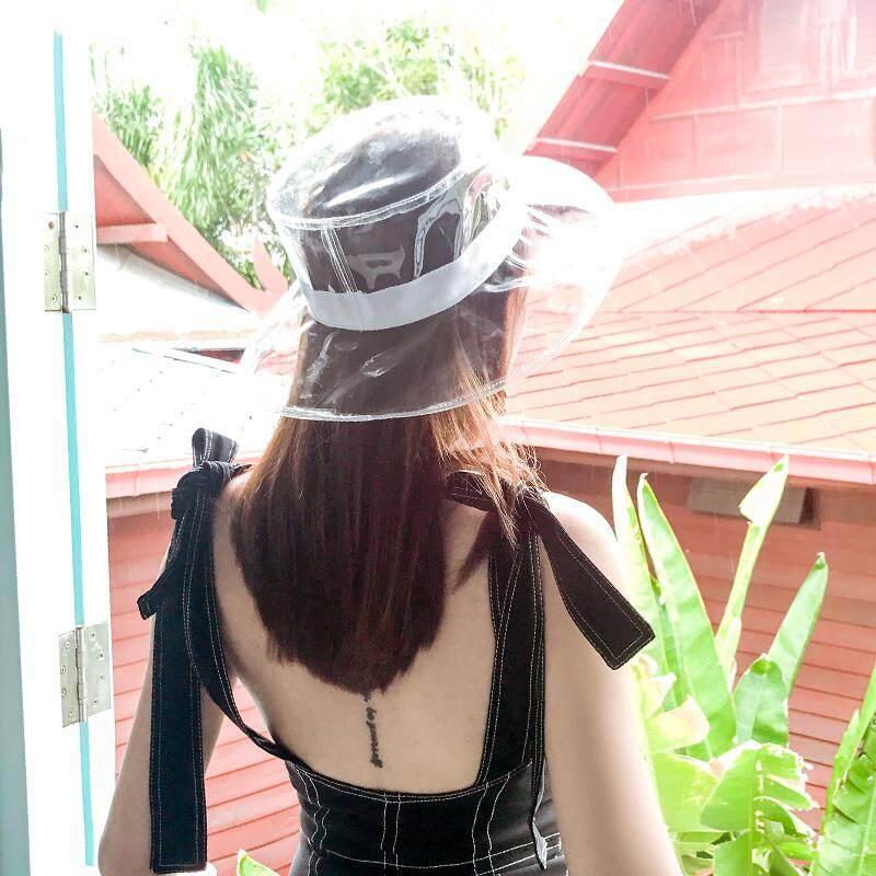 Tutup transparan perempuan Musim panas Gaya Korea netral pasang pvc plastik  Merah topi nelayan in Pelindung 2eb3c6f53b