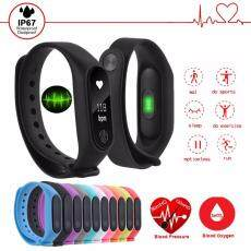 OQTO M2 Original Sport Waterproof Smart Bracelet M2 Wrist Band Smart Watch OLED Fitness Tracker Pedometer