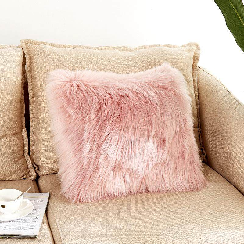 Ishowmall New Arrival Soft Plush Faux Wool Fur Cushion Covers Fluffy Throw Pillow Cases By Ishowmall