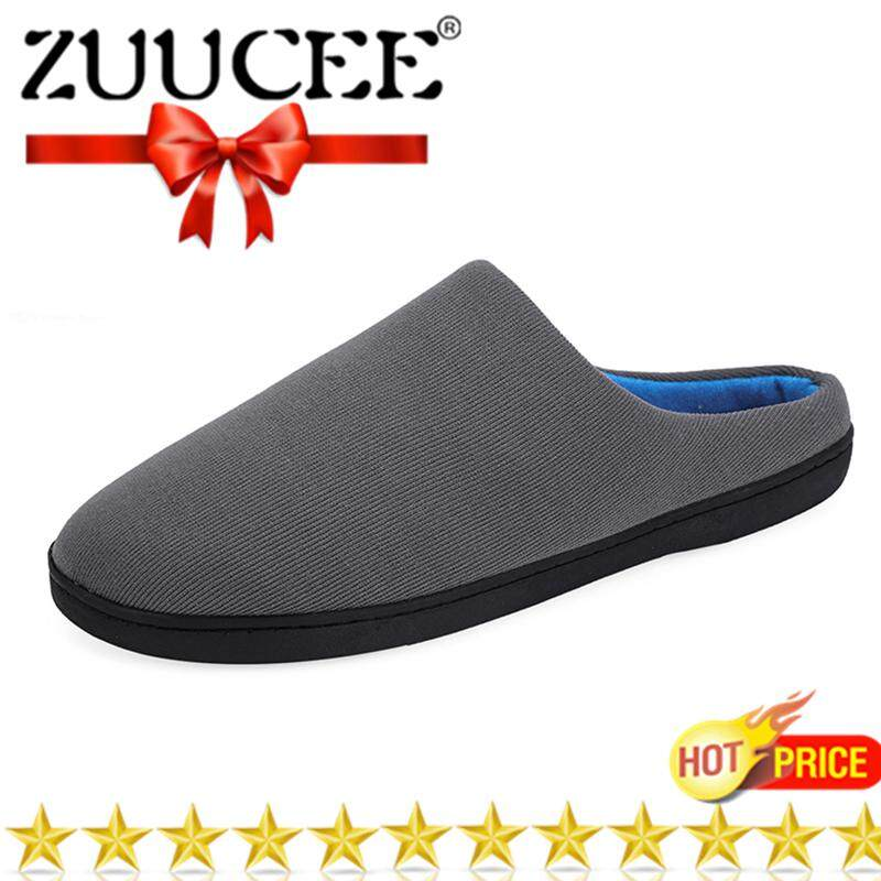 3038c59bb5f4 ZUUCEE Winter Big Size Cotton Slippers Men and Women Indoor Cotton Shoes  House Slippers Plus Velvet