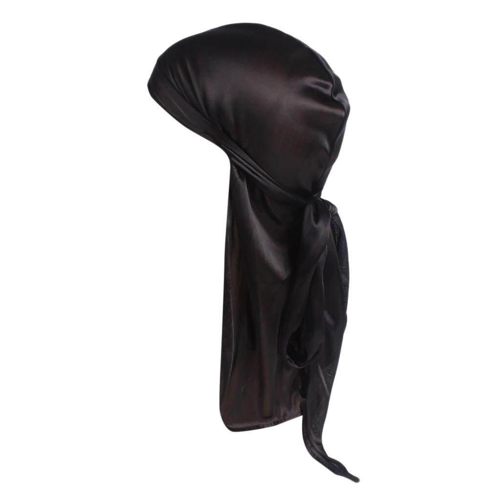 2018 Berylshop Fashion Trend Unisex India Muslim Stretch Turban Silk Smooth Long Tail Hat Head Scarf Wrap - intl