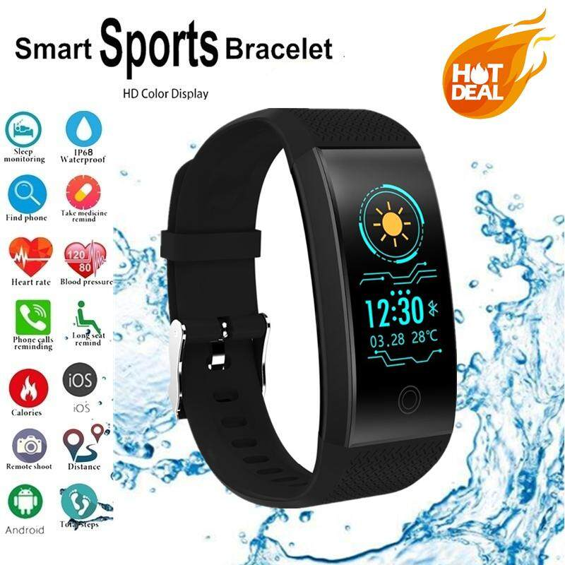 Joetxo QW18 Smartwatch Warna IPS Layar Gelang Pintar Anti Air Pemantau Fitness Smart Gelang untuk iPhone Xiaomi Huawei Oppo Vivo PK Mi Bang 3