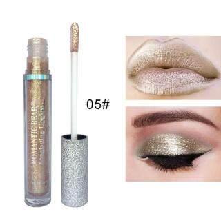 Dongxi Romantis Bear 12 Warna Glitter Kelap-kelip Eyeshadow Lipgloss Cair Bibir Mata Make Up Kecantikan-Intl thumbnail