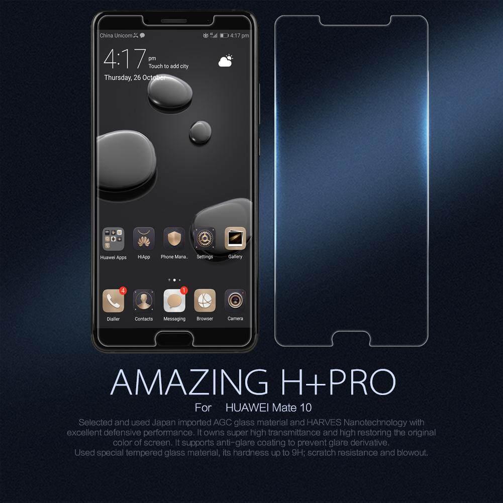 Top Brand Merek Kaca Tempered AGC Pelindung Layar untuk for Huawei Mate 10 (Bening), premium Kualitas Tinggi Asli Ultra Tipis Potongan Pas Badan Lampu 9H HD Penjaga Film, anti-Explosion Anti-Knock Anti Pecah Anti-Glare Tahan