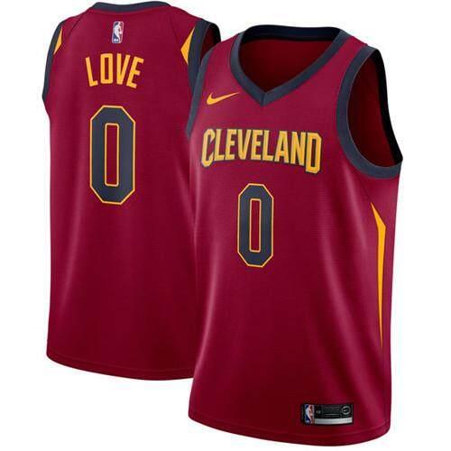 Nike อย่างเป็นทางการผู้ชายทหารม้าคลีฟแลนด์ Kevin Love 0 Maroon Swingman เสื้อบาสเกตบอล - ไอคอน Edition S-2xl สบาย By Pgioepu.