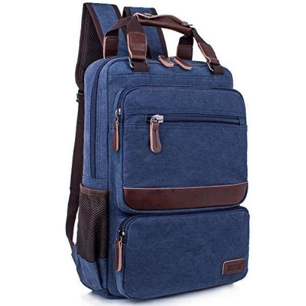 Leaper Vintage Laptop Backpack College School Casual Daypack Travel Rucksack - intl