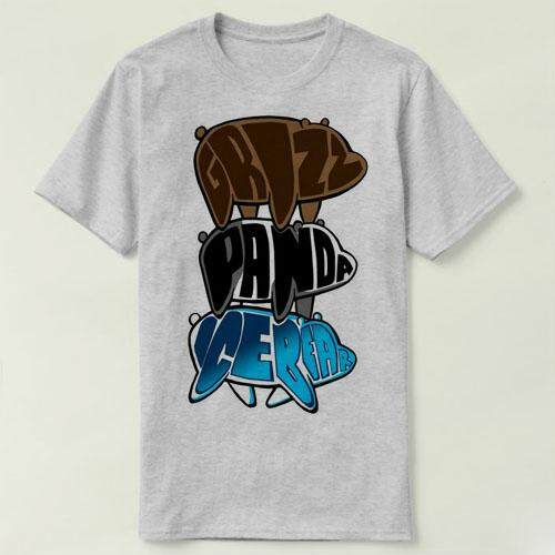 844835d74fb Mens Fashion We Bare Bears Ice Bear Wants Justice Tees Casual Cotton DIY  Summer Short Round