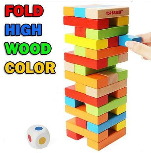48PCS BRIGHT COLOUR FOLD HIGH WOOD COLOURFUL