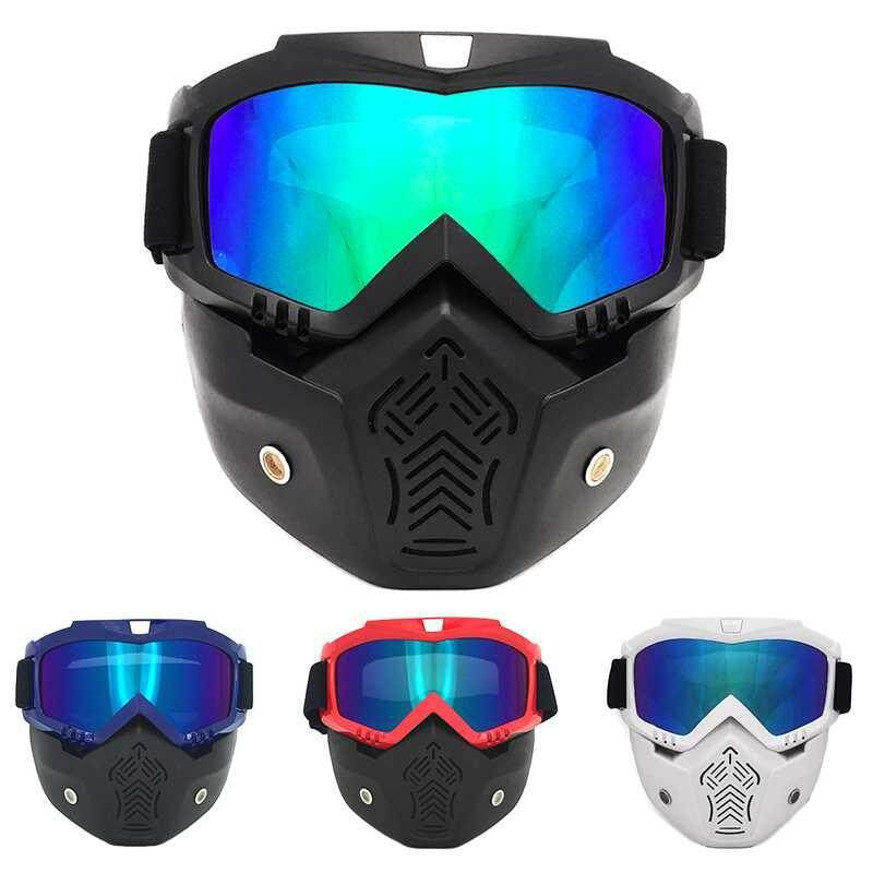 Burstore Outdoor Motorbike Open Face Detachable Goggle For Vintage Motorcycle Helmets Ski Bike Motorcorss Face Mask Goggles - Intl By Burstore.