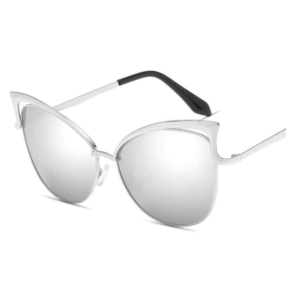 Women Cat Eye Sunglasses UV Proof PC Lens Sun Glass for Outdoor Sports Lenses Color:gold+Gradient gray Specification:923/Q/7 - intl