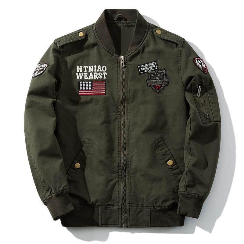 58160f68205 2018 Fashion Men s Jackets Fall New Men s Casual Plus Size Air Force Pilot Jacket  Military Flight