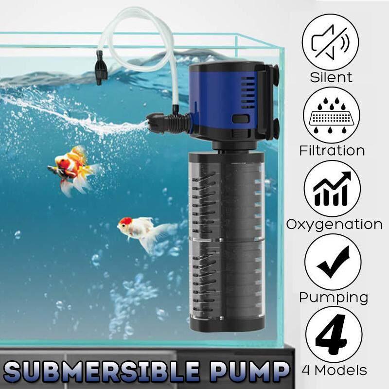 ตัวกรองตู้ปลาเครื่องสูบน้ำบาดาลน้ำปั๊มออกซิเจนกรองถังบ่อปลา