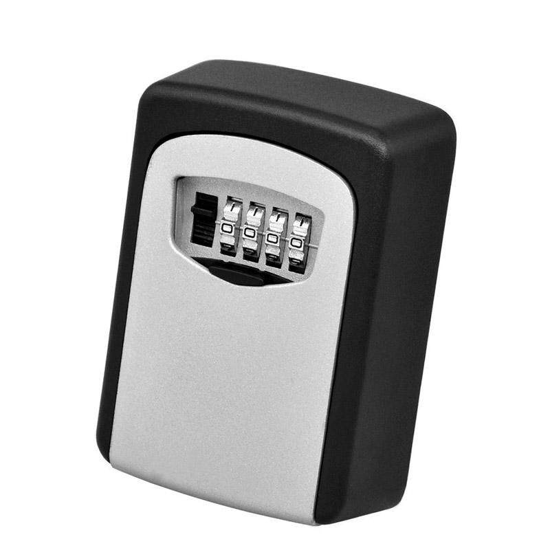 Amart Steel Wall Mount Key Box with Combination Lock Safe Storage Key Outside Security with 4 Digit Combination - intl ...