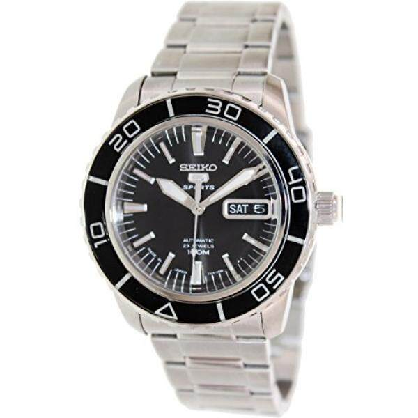 Seiko 5 SNZH55 Automatic Black Dial Stainless Steel Mens Watch - intl