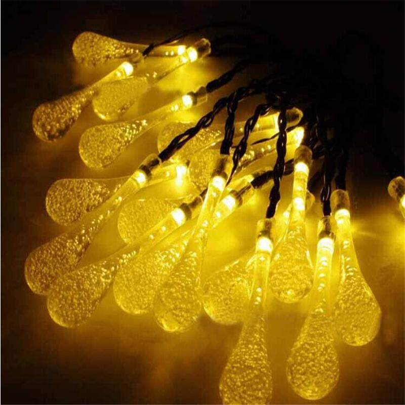 f6ab0937965 Icicle Snow Fall LED Meteor Falling Star Rain Drop Xmas String Fairy Light  Bulb (Warm