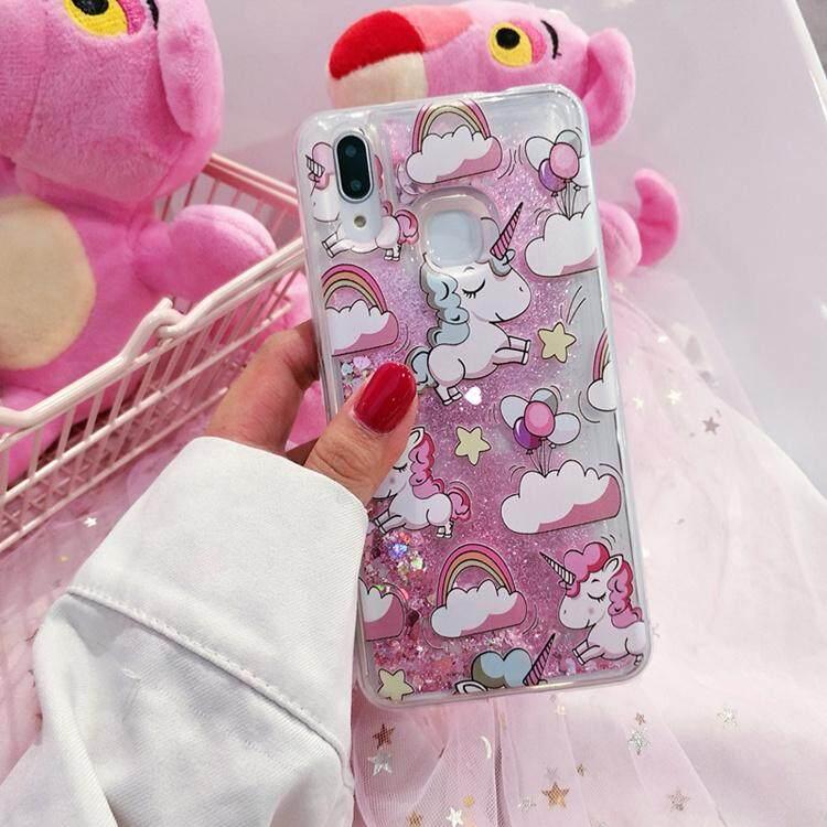 Lucu Glitter Pasir Hisap Cair Dinamis Casing Ponsel Botol Lembut TPU Silicon Penutup Belakang untuk Xiaomi