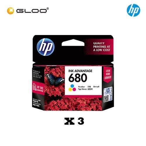 [3 Units] HP 680 Tri-color Original Ink Advantage Cartridge F6V26AA