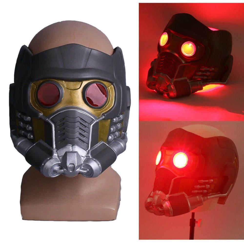 COSPLAY Star Lord Helm LED Cosplay Guardians Of The Galaxy & Avengers: Infinity War Masker Lampu LED Pesta Halloween Alat Peraga Bagian Tipis