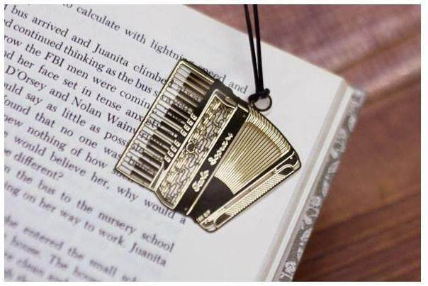 Gold Accordian Bookmark