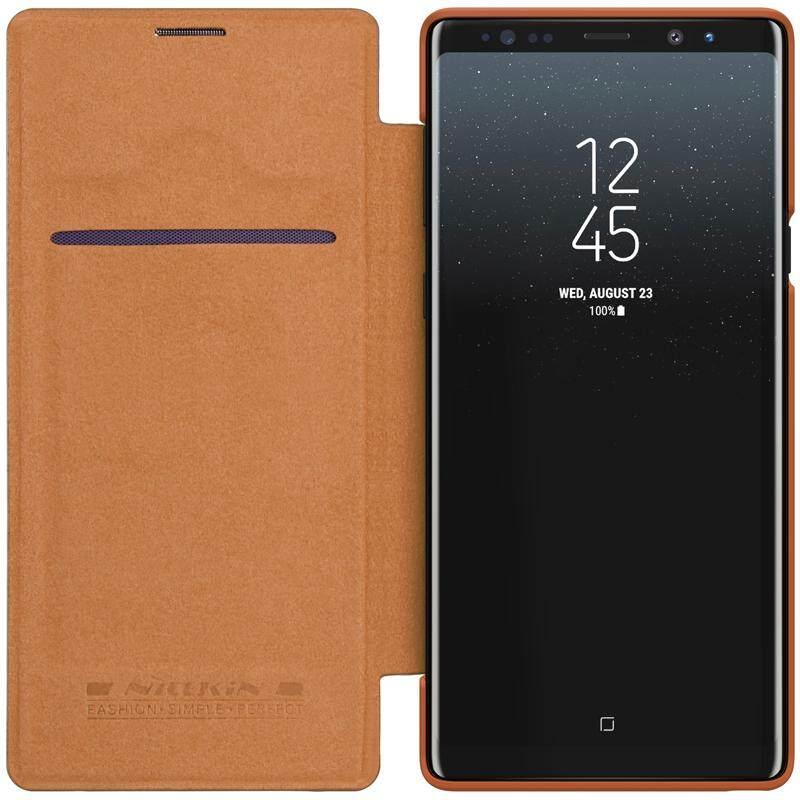 ... NILLKIN Qin Series untuk Samsung GALAXY Catatan 9 Tidur Nyenyak Bangun Pagi Luxury Flip Case Kulit