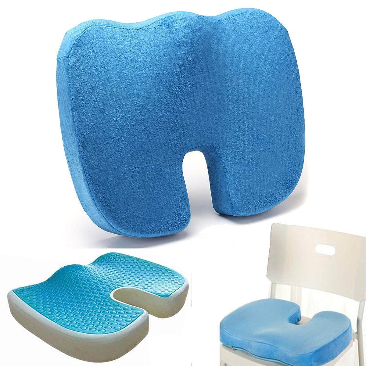 U Shape Silicone Gel Cushion Memory Foam Pillow Coccyx Protect Slow Rebound Summer Cool Chair Cushion Seat Mat