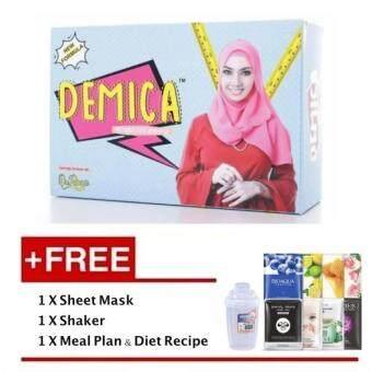 Demica Fat Burner + Free Sheet Mask + Free Shaker + Free Meal Plan & Diet Recipe