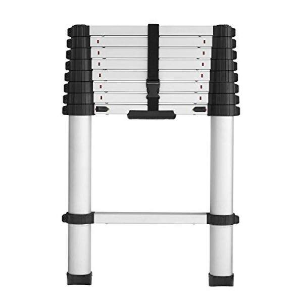 COSCO 20309T1ASE SmartClose Telescoping Aluminum Ladder with Pinch-Free, Soft-Close Locking Mechanism - intl