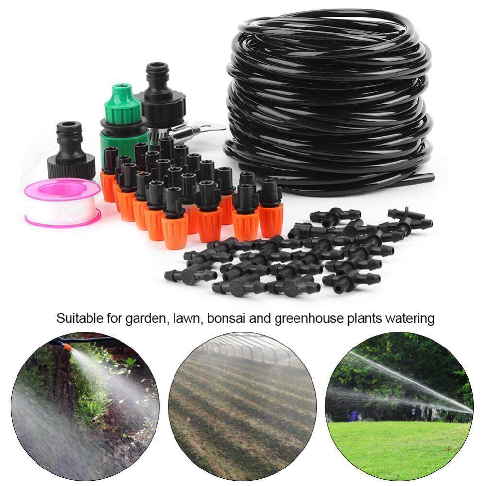 epayst Micro Water Irrigation System Garden Greenhouse Plants Automatic Watering 15M Hose Set Kit