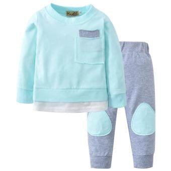Free shipping Dotsonshop Autumn Newborn Infant Baby Boy Girl T shirt Tops+Pants 2PCS Outfits Clothes Set