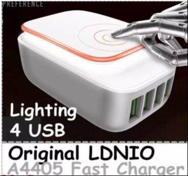 Original LDNIO A4405 4.4A 4 USB Lighting Fast Charge Phone Charger