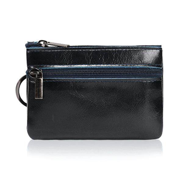 363fad04a93a89 Leather Mini Multifunction Coin Purse Small Card Package Retro European and  American Zipper Key Coin Short