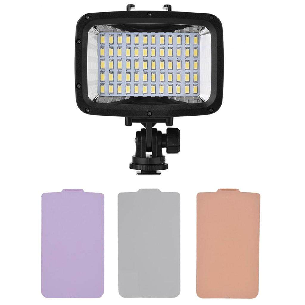 Miracle Shining Underwater 60 LEDs Video Light Fill-in Lamp Dimmable for Canon Nikon Camera