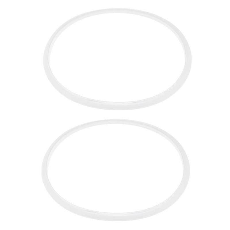 2 Pieces Rubber Gasket Sealing Ring Pressure Cookers 28cm Inside Diameter, Transparent White.