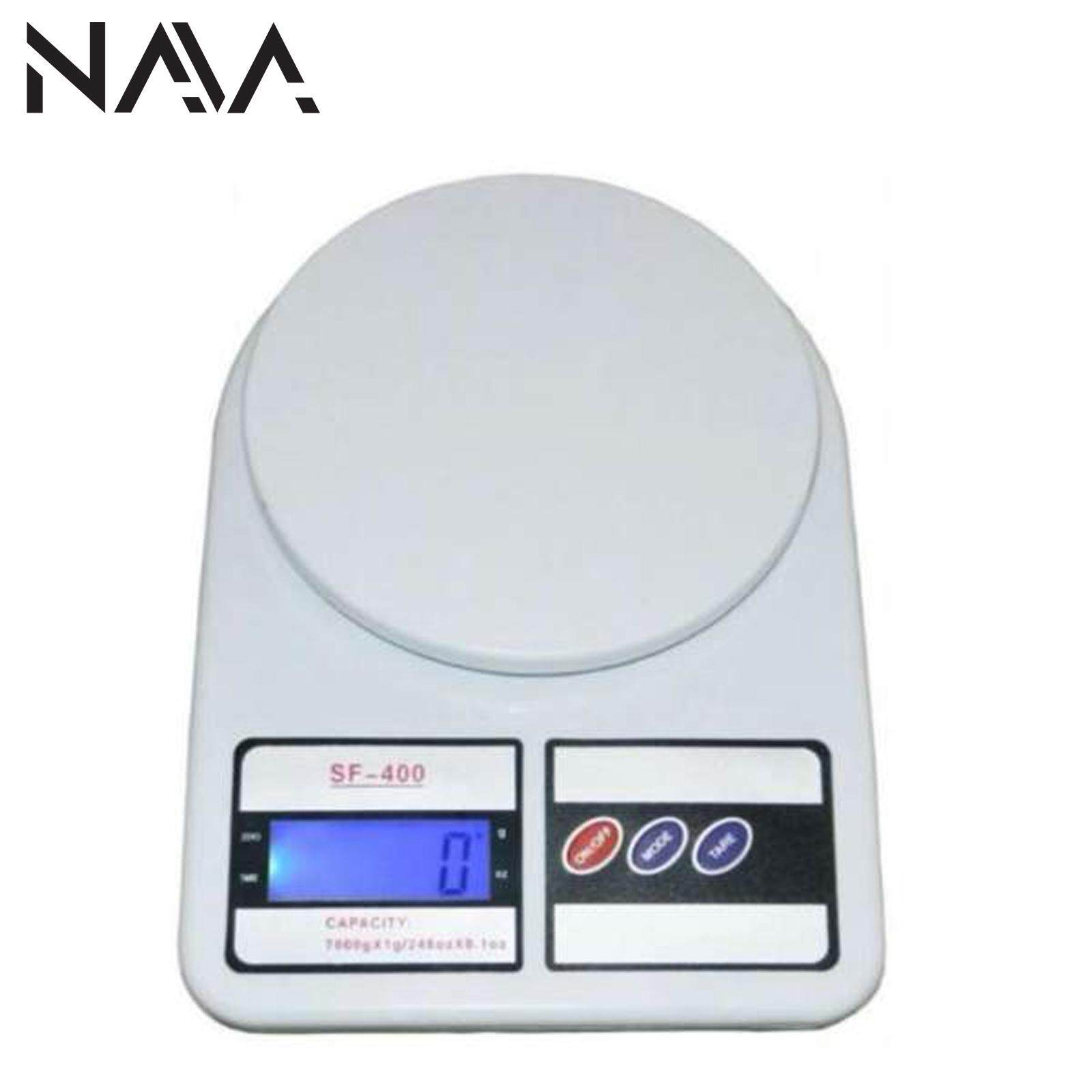 NaVa 10kg Digital Multi Function Kitchen and Food Scale (White)