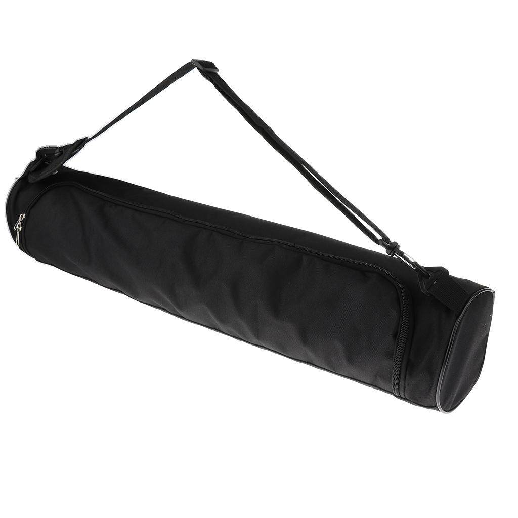 93934cd87e Miracle Shining Waterproof Yoga Mat Carrier Bag Nylon Carrier Adjustable  Strap 73cm Black