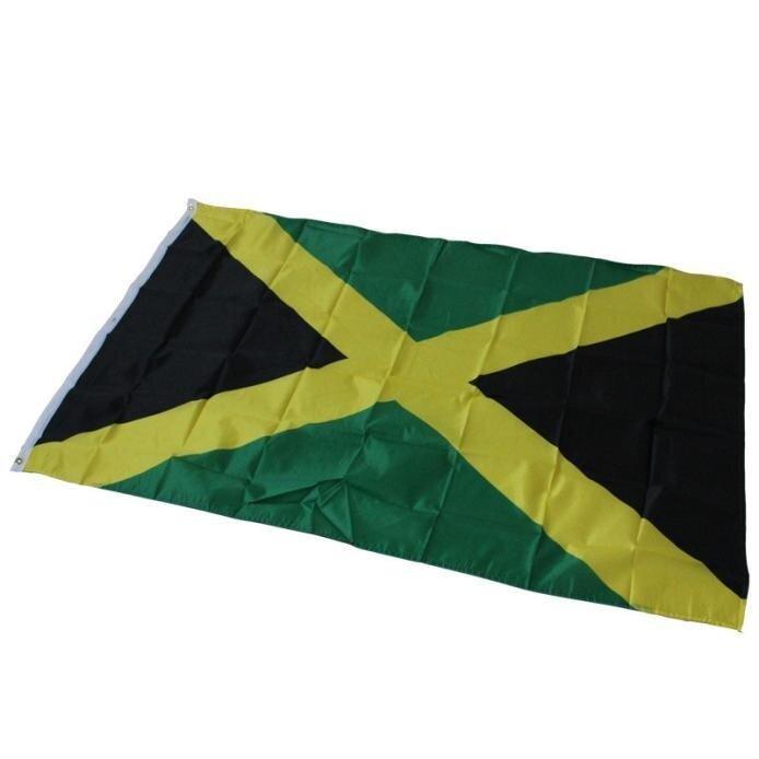 Fanestiy Jamaika Negara Bendera Poliester Nasional Jamaika Banner Besar